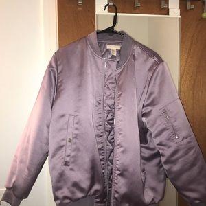 H&M Padded Pilot Jacket in Lavender